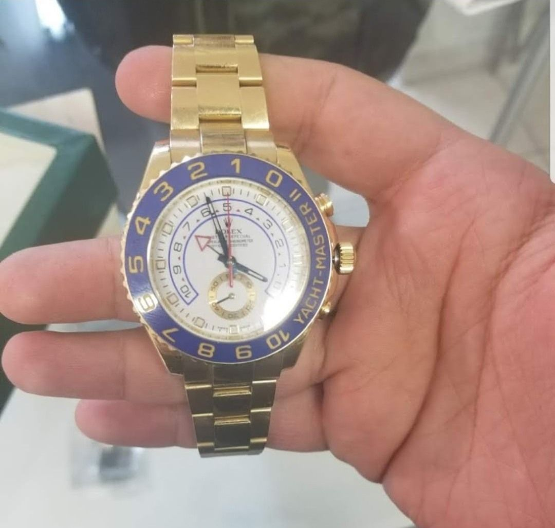 view of an expensive Rolex watch